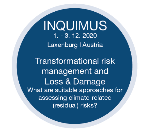 INQUIMUS 2020: Transformational  risk management and Loss & Damage – Postopened